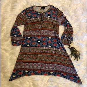 Cute & Comfy Patterned Tunic New Directions Sz S